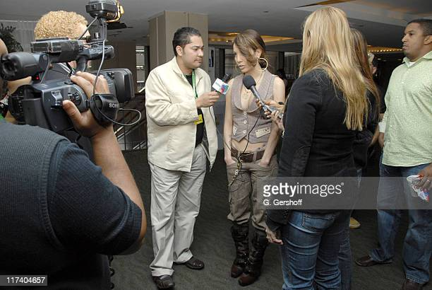 Pacha, WADO, and Ivy Queen during The 7th Annual Latin GRAMMY Awards - Univision Radio Remotes - Day 2 at Madison Square Garden in New York, New...