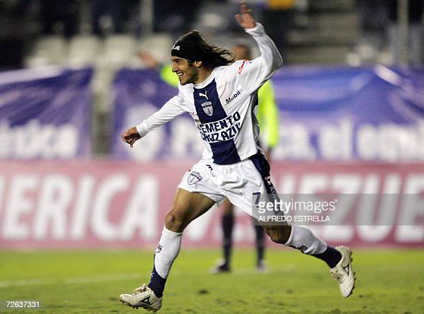 Damian Alvarez of Pachuca from Mexico celebrates his goal against Atletico  Paranaense from Brazil during their 5fa0828bb19db