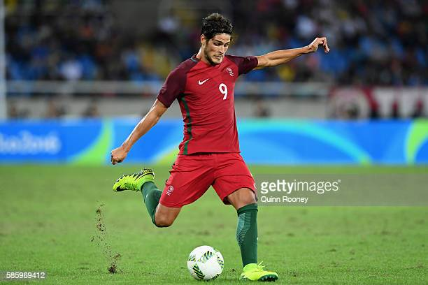 Paciencia Goncalo of Portugal in action during the Men's Group D first round match between Portugal and Argentina during the Rio 2016 Olympic Games...