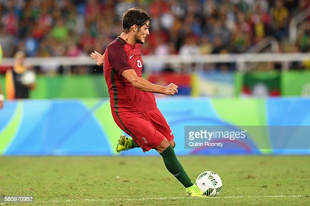 Paciencia Goncalo of Portugal scores a goal during the Men's Group D first round match between Portugal and Argentina during the Rio 2016 Olympic...