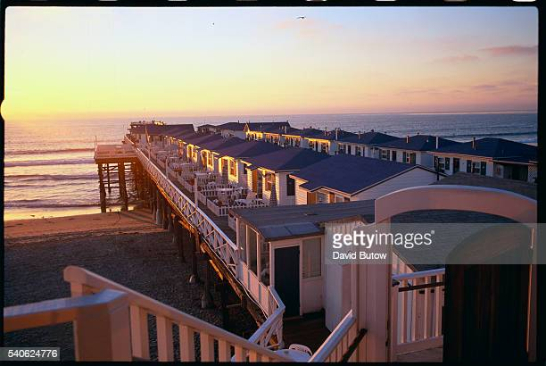 Pacific Beach hotels and cottages include the Crystal Pier Hotel