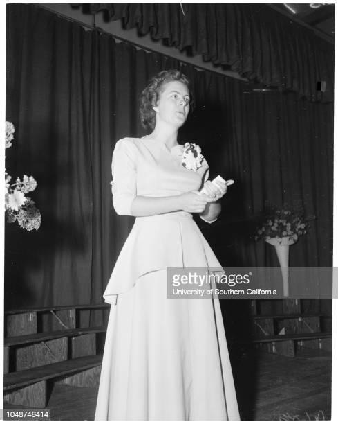 Pacific Bible College at Azusa commencement exercises May 27 1952 Marilyn GloecklerArdith KlevenPatricia McCollumJoe RogersRobert GilmoreDavid...