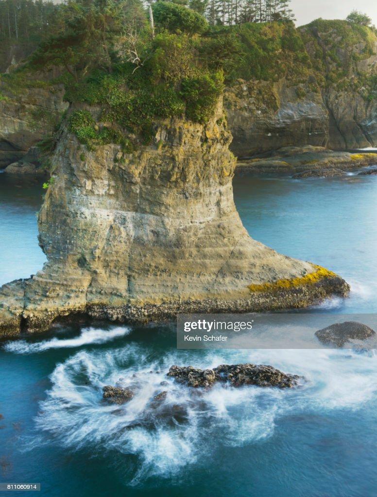 Pacific coast, Cape Flattery, Washington, NW tip of 48 states : Stock Photo
