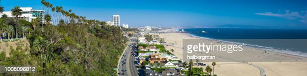 Pacific Coast Highway in Santa Monica - Aerial Panorama