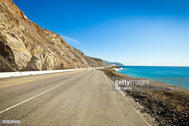 pacific coast highway north of malibu, california - malibu stock pictures, royalty-free photos & images