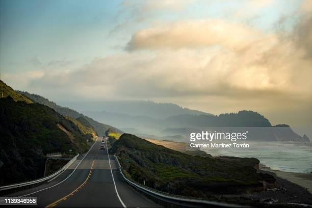 pacific coast highway view, oregon. usa. - küstenlandschaft stock-fotos und bilder