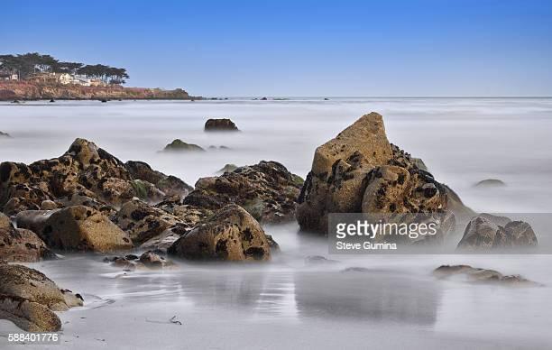 the rocky coastline in pacific grove ca ストックフォトと画像