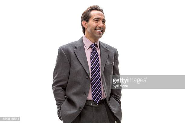 Pacific Islander businessman smiling