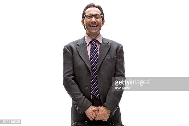 Pacific Islander businessman smiling