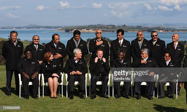 Pacific leaders Henry Puna Prime Minister of Cook Islands Peter O'Neill Prime Minister of Papua New Guinea Jurelang Zedkaia President of Marshall...