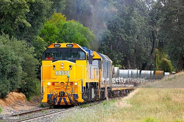 Pacific National Long Island steel train near Frankston