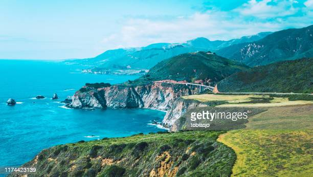 pacific ocean at big sur california - central california stock pictures, royalty-free photos & images