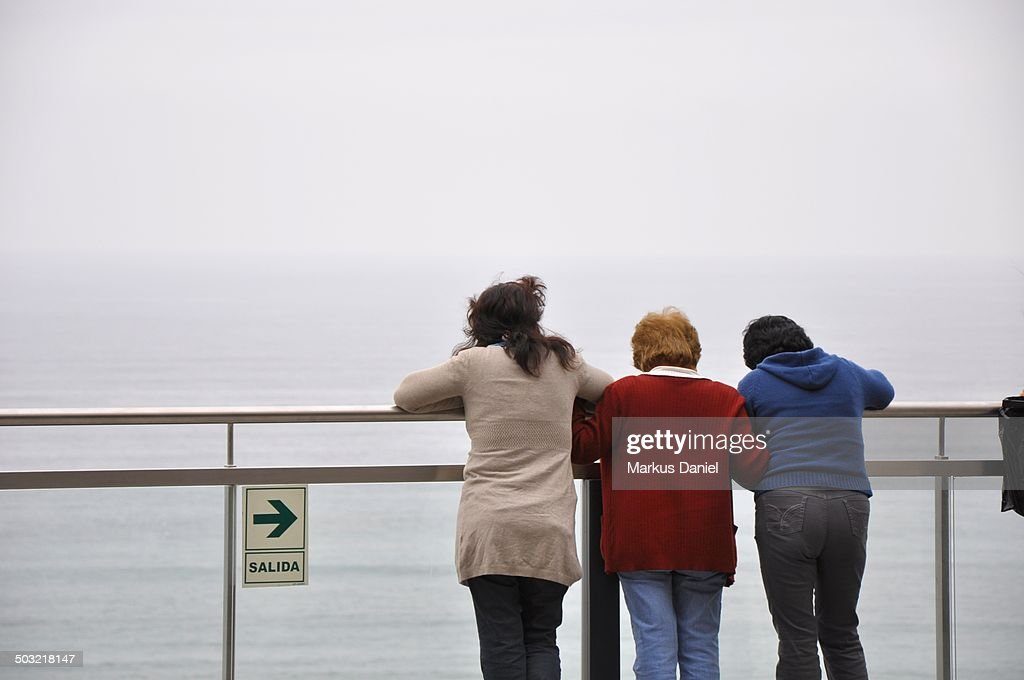 Pacific Ocean at Larcomar in Lima, Peru : Stock Photo