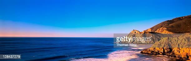 pacific ocean & coastline, san mateo co, n ca