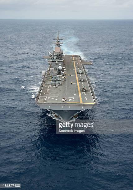 Pacific Ocean, June 23, 2012 - The amphibious assault ship USS Essex transits through the Pacific Ocean.