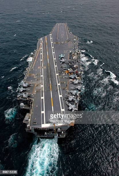 Pacific Ocean, March 14, 2006 - The Nimitz-class aircraft carrier USS John C. Stennis (CVN-74) transits through the Pacific Ocean.