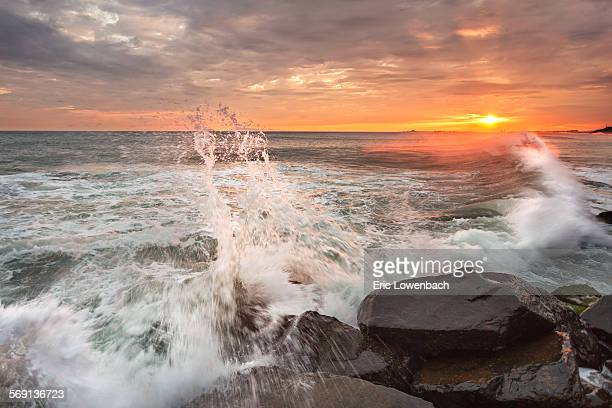 Pacific Ocean Sunset Wave