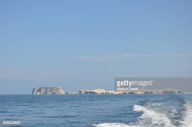 Pacific Ocean view of Ballestas Islands