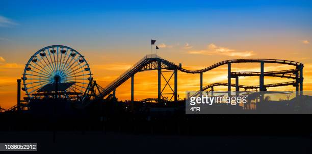 pacific park, santa monica, california, usa - amusement park stock pictures, royalty-free photos & images
