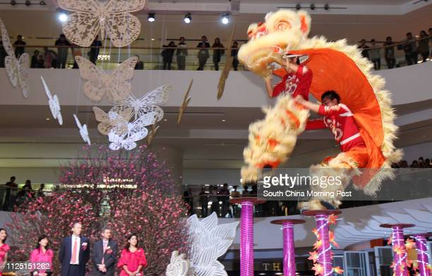 """Pacific Place presents a lion dance parade to celebrate Chinese New Year with shoppers, along with """"Butterfly"""" bliss"""" artistic festive decorations..."""