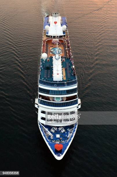 "Pacific Princess cruise ship arrives in the harbour on February 14 2015 in Sydney Australia Princess Cruises' modern day ""Love Boat"" Pacific Princess..."