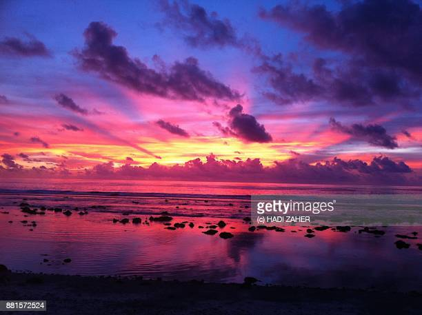 pacific sunrise | nauru | south pacific - nauru stock pictures, royalty-free photos & images