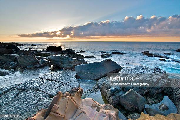 pacific sunrise - utc−10:00 stock pictures, royalty-free photos & images