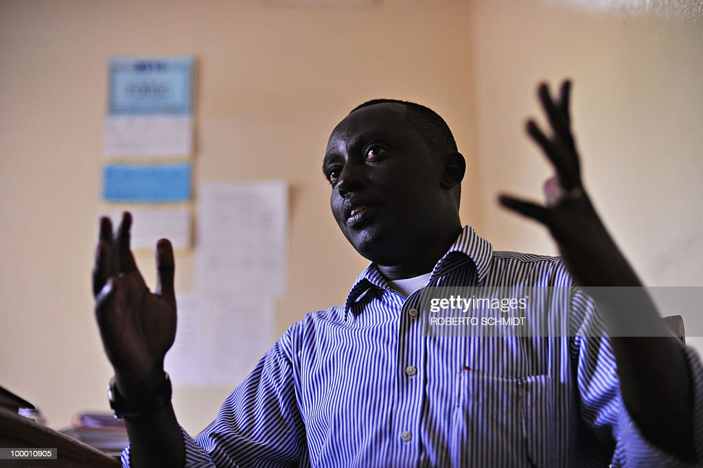 AUSSEILL -- Pacifique Nininahazwe, the Delegate General for the Forum for the Strengthening of Civil Society (FORSC), an organization for 146 Burundian civil society associations, speaks to journalists at his office in Bujumbura on May 11, 2010. Pacifique said during the interview that 'here (Burundi), the civil society is considered like a political opposition'. Human Rights Watch has urged Burundian authorities to prevent pre-election violence, as fierce competition between the ruling party and four or five strong opposition movements fuels tension between militants.