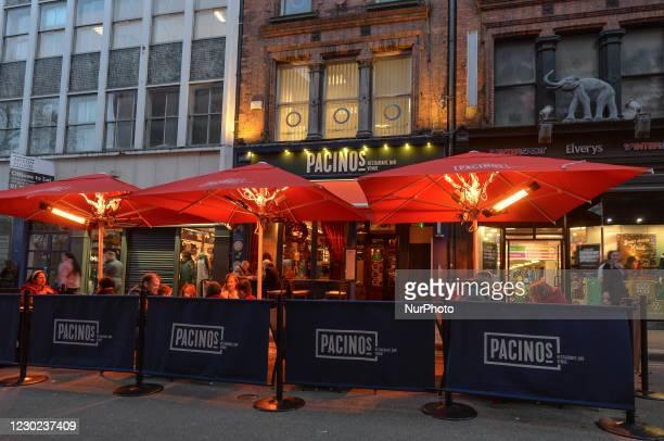 Pacino's Italian restaurant in Dublin city center. On Sunday, December 20 in Dublin, Ireland.