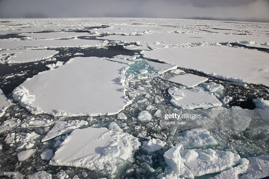 Pack Ice in hight Arctic of Spitsbergen, Norway : Stock Photo