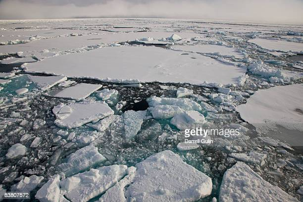 Pack Ice in Northern Section of Spitsbergen Norway
