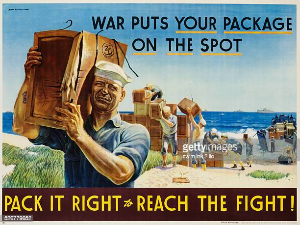 Pack It Right to Reach the Fight Poster by John Falter