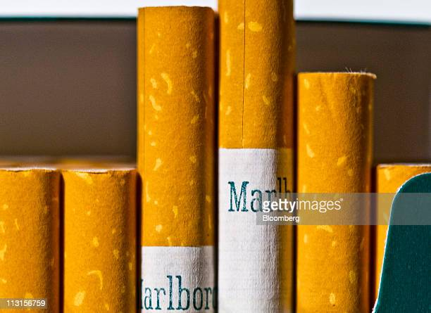 A pack of Altria Group Inc Marlboro menthol cigarettes is arranged for a photograph in New York US on Thursday April 14 2011 Tobacco companies...