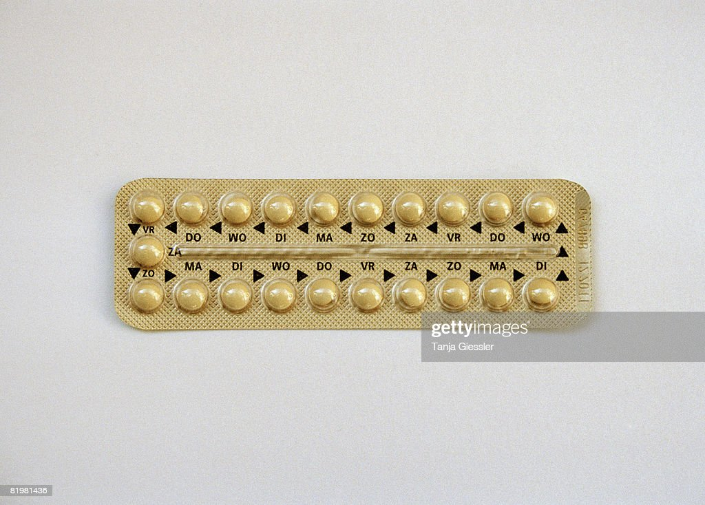 A pack of contraceptive pills : Stock Photo