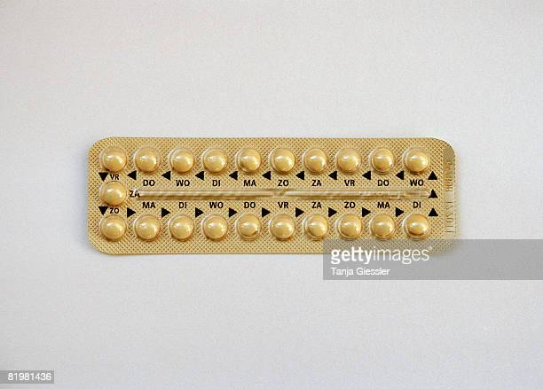 a pack of contraceptive pills - birth control pill stock pictures, royalty-free photos & images