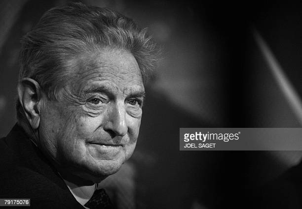 Package of five portraits of George Soros George Soros Chairman of Soros Fund Management listens during a debate at the World Economic Forum in Davos...