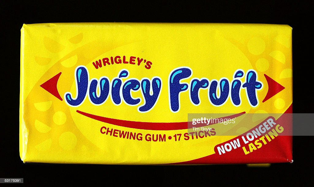 A package of Wrigley's Juicy Fruit chewing gum is photographed June 30, 2005 in Des Plaines, Illinois. Chicago-based Wm. Wrigley Jr. has said it will close its 94-year-old factory in Chicago that produces the company's chewing gum, effecting close to 600 workers, after its acquisition of Kraft Foods' Life Savers and Altoids brands June 29.