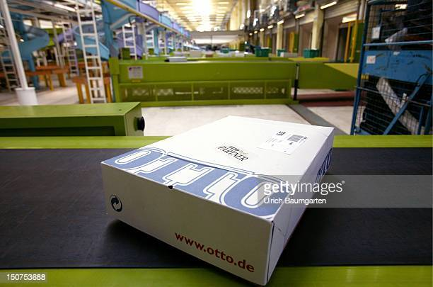 Package ready for mailing in the Otto dispatch center in Haldensleben