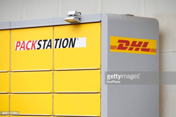 A DHL package service station is seen in Berlin on 13 February 2017