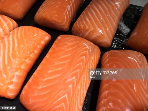 Packaged Raw Salmon