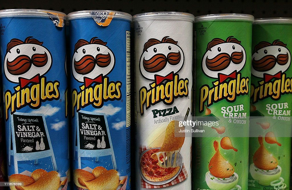 Packages of Pringles potato chips are displayed on a shelf at a market on April 5, 2011 in San Francisco, California. Diamond Foods Inc. has agreed to purchase Pringles chip operations from Procter & Gamble Co. for $1.5 billion, a move that will triple the size of its snack foods business.