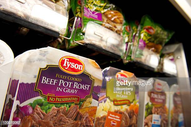 Packages of Tyson Foods Inc prepared food are displayed for sale in San Francisco California US on Friday July 29 2011 The US chicken industry has...