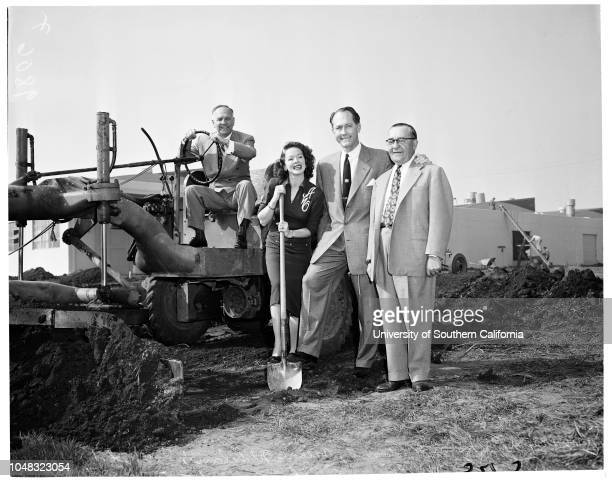 Packard Bell ground breaking 27 January 1953 Lieutenant Governor Goodwin KnightArlene WhelanRobert S BellHerbert A Bell12333 West Olympic Boulevard...
