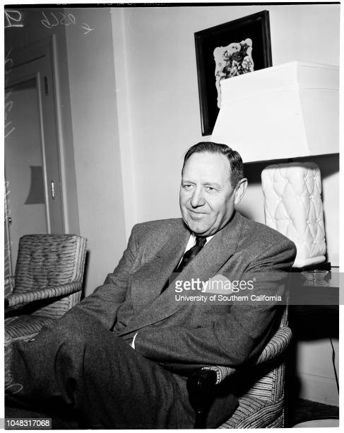 Packard car executive interview, 20 November 1952. James J Nance ..