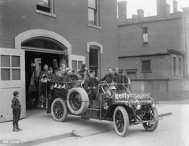 Packard Fire Squad Detroit Michigan USA circa 1911