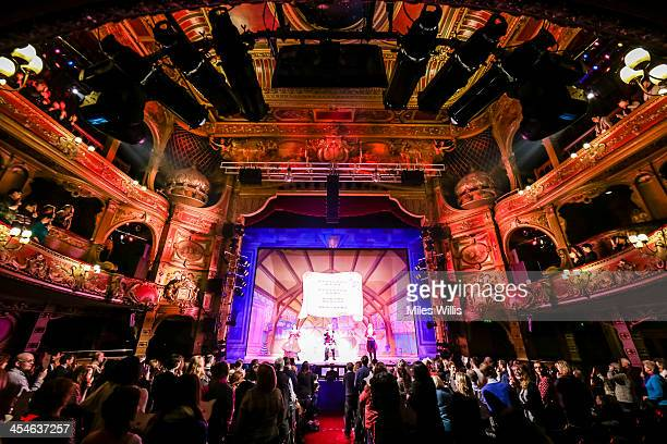 A packed audience watches the Puss in Boots pantomime at the Hackney Empire on December 6 2013 in London England