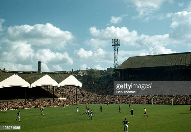 A packed crowd at Molineux for the match between Wolverhampton Wanderers and Birmingham City circa August 1958