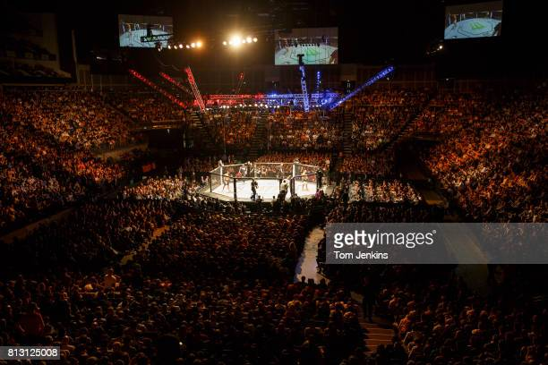 A packed crowd at the UFC Ultimate Fighting Championship fight night at the O2 Arena on February 27th 2016 in London