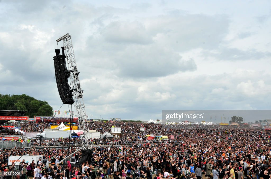 Packed crowds watch the main stage on day three of the