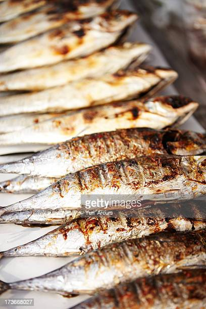packed like sardines - smoked food stock photos and pictures